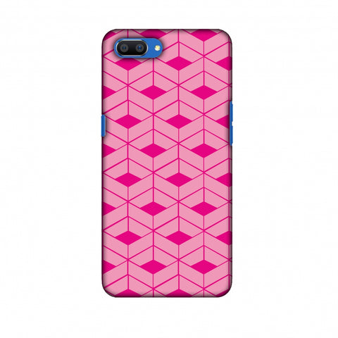 Carbon Fibre Redux Hot Pink 9 Slim Hard Shell Case For Oppo Realme C1