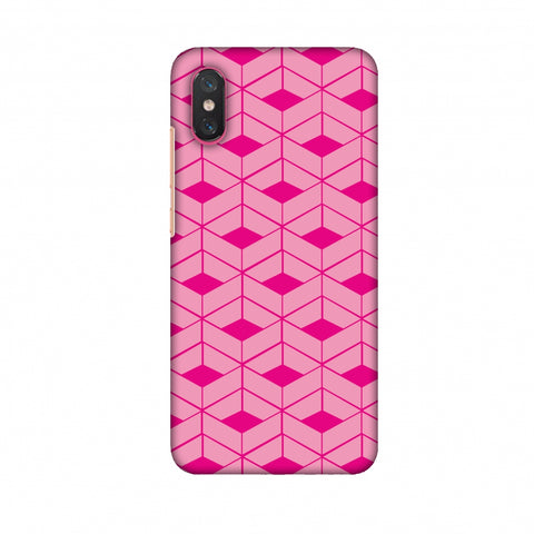 Carbon Fibre Redux Hot Pink 9 Slim Hard Shell Case For Xiaomi Mi 8 Pro