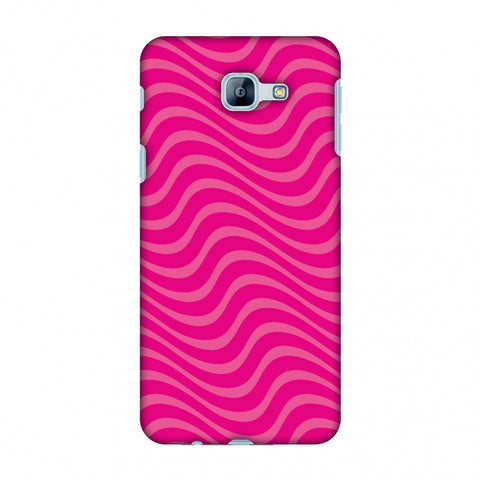 Carbon Fibre Redux Hot Pink 10 Slim Hard Shell Case For Samsung Galaxy A8 2016