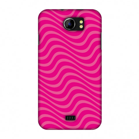 Carbon Fibre Redux Hot Pink 10 Slim Hard Shell Case For Micromax Canvas 2 A110
