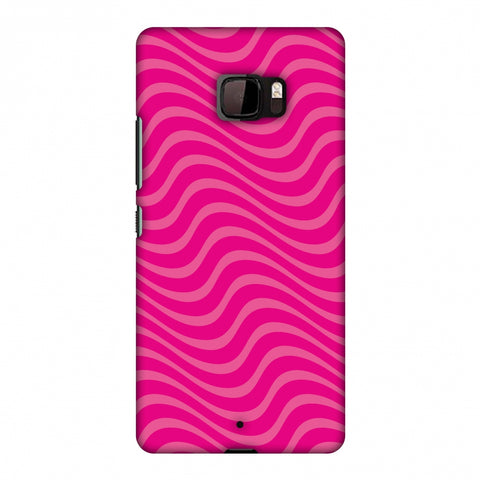 Carbon Fibre Redux Hot Pink 10 Slim Hard Shell Case For HTC U Ultra