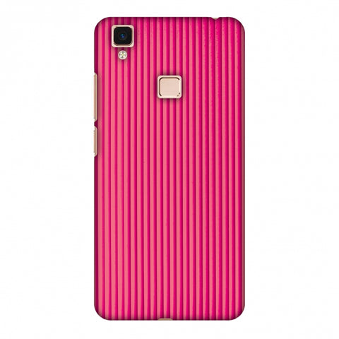 Carbon Fibre Redux Hot Pink 12 Slim Hard Shell Case For Vivo V3 Max