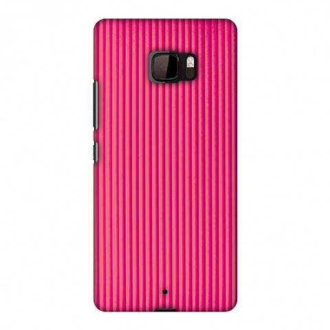 Carbon Fibre Redux Hot Pink 12 Slim Hard Shell Case For HTC U Ultra