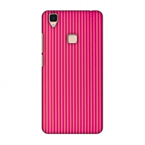 Carbon Fibre Redux Hot Pink 12 Slim Hard Shell Case For Vivo V3