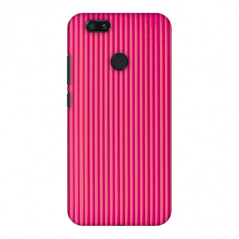 Carbon Fibre Redux Hot Pink 12 Slim Hard Shell Case For Xiaomi MI A1-5X