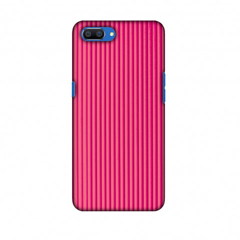Carbon Fibre Redux Hot Pink 12 Slim Hard Shell Case For Oppo Realme C1