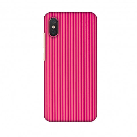 Carbon Fibre Redux Hot Pink 12 Slim Hard Shell Case For Xiaomi Mi 8 Pro