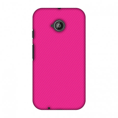 Carbon Fibre Redux Hot Pink 13 Slim Hard Shell Case For Motorola Moto E 2nd Gen