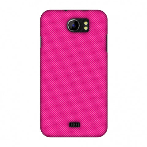 Carbon Fibre Redux Hot Pink 13 Slim Hard Shell Case For Micromax Canvas 2 A110