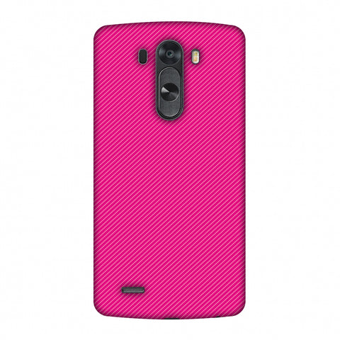 Carbon Fibre Redux Hot Pink 13 Slim Hard Shell Case For LG G4