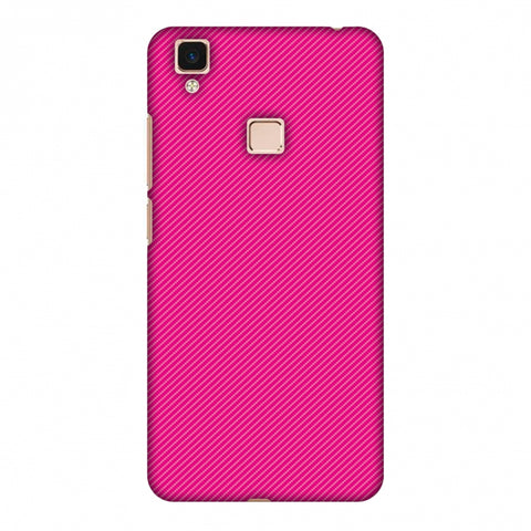 Carbon Fibre Redux Hot Pink 13 Slim Hard Shell Case For Vivo V3 Max