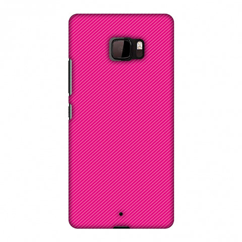 Carbon Fibre Redux Hot Pink 13 Slim Hard Shell Case For HTC U Ultra