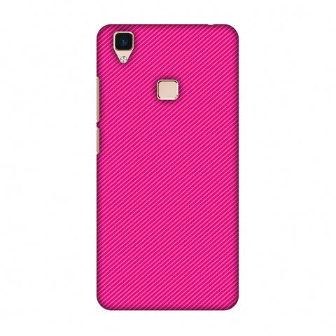 Carbon Fibre Redux Hot Pink 13 Slim Hard Shell Case For Vivo V3