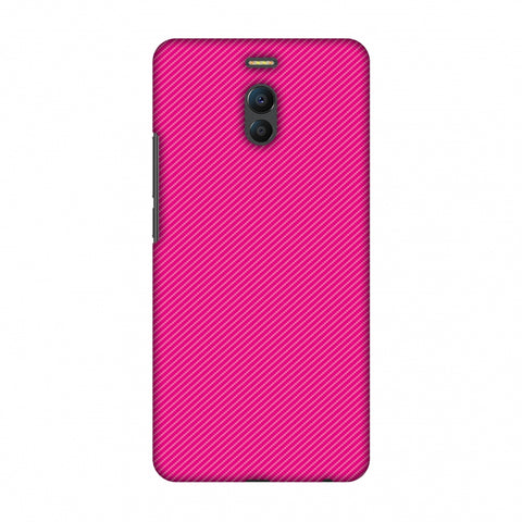 Carbon Fibre Redux Hot Pink 13 Slim Hard Shell Case For Meizu Note 6