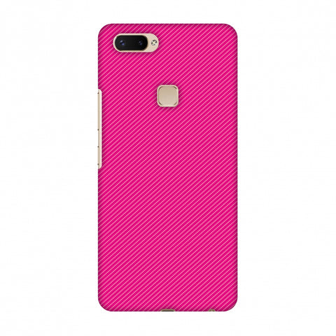 Carbon Fibre Redux Hot Pink 13 Slim Hard Shell Case For Vivo X20 Plus