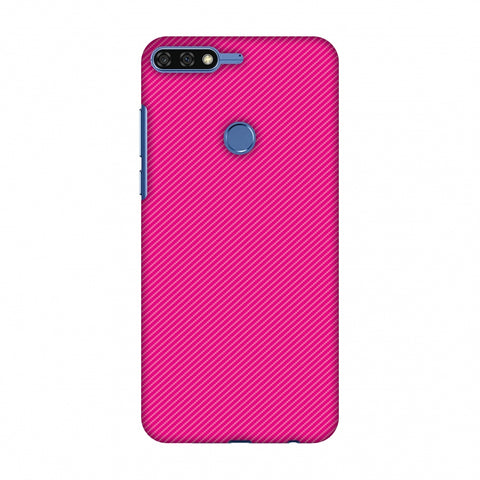 Carbon Fibre Redux Hot Pink 13 Slim Hard Shell Case For Huawei Honor 7C