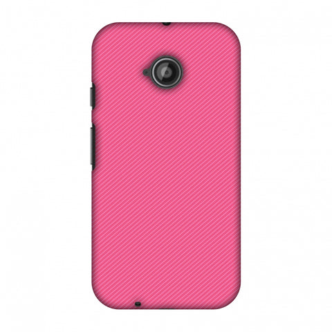 Carbon Fibre Redux Hot Pink 14 Slim Hard Shell Case For Motorola Moto E 2nd Gen