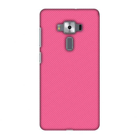 Carbon Fibre Redux Hot Pink 14 Slim Hard Shell Case For Asus Zenfone 3 Deluxe ZS570KL