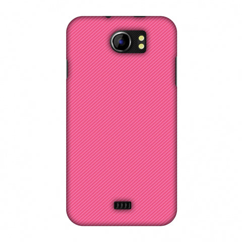 Carbon Fibre Redux Hot Pink 14 Slim Hard Shell Case For Micromax Canvas 2 A110