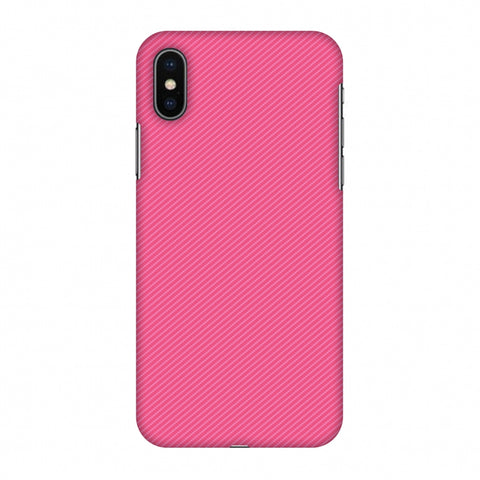 Carbon Fibre Redux Hot Pink 14 Slim Hard Shell Case For Apple iPhone X