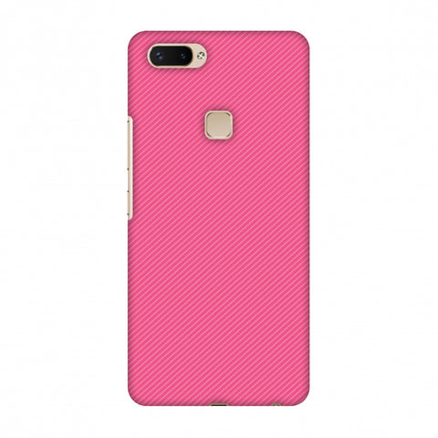 Carbon Fibre Redux Hot Pink 14 Slim Hard Shell Case For Vivo X20 Plus