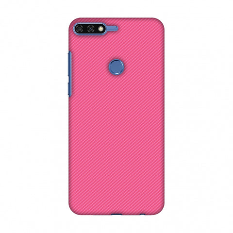 Carbon Fibre Redux Hot Pink 14 Slim Hard Shell Case For Huawei Honor 7C