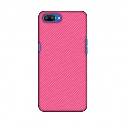 Carbon Fibre Redux Hot Pink 14 Slim Hard Shell Case For Oppo Realme C1