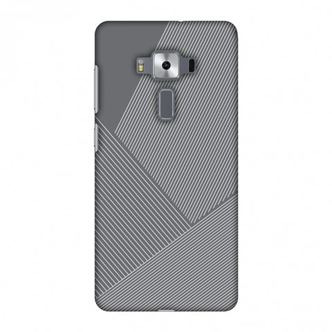Carbon Fibre Redux Stone Gray 1 Slim Hard Shell Case For Asus Zenfone 3 Deluxe ZS570KL