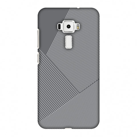 Carbon Fibre Redux Stone Gray 1 Slim Hard Shell Case For Asus Zenfone 3 ZE520KL