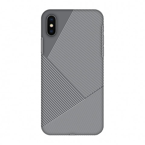 Carbon Fibre Redux Stone Gray 1 Slim Hard Shell Case For Apple iPhone X