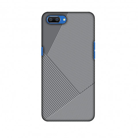Carbon Fibre Redux Stone Gray 1 Slim Hard Shell Case For Oppo Realme C1