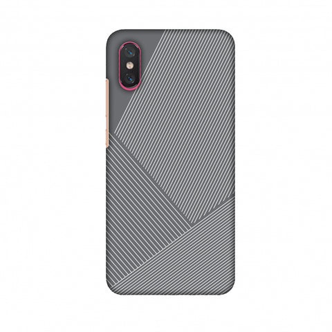 Carbon Fibre Redux Stone Gray 1 Slim Hard Shell Case For Xiaomi Mi 8 Pro