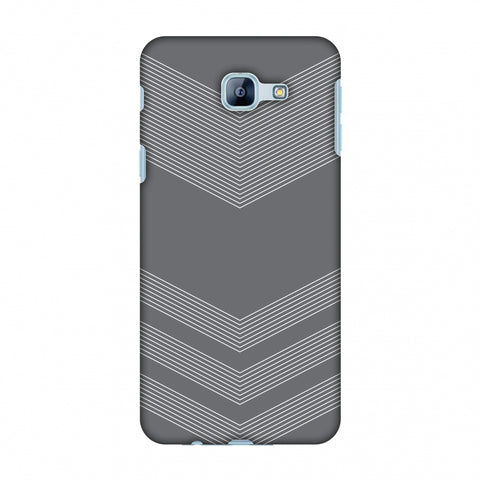 Carbon Fibre Redux Stone Gray 2 Slim Hard Shell Case For Samsung Galaxy A8 2016