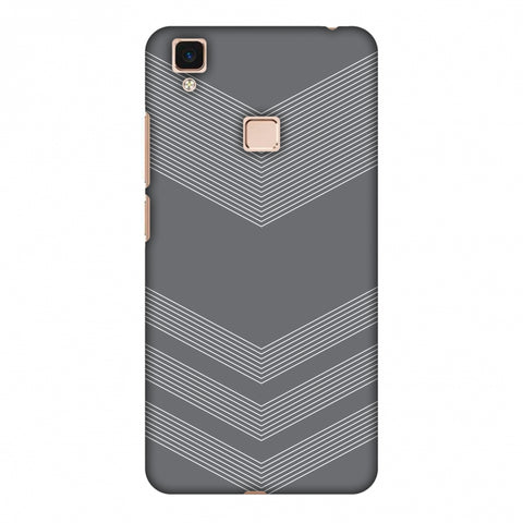 Carbon Fibre Redux Stone Gray 2 Slim Hard Shell Case For Vivo V3 Max