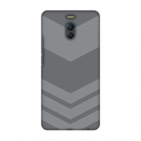 Carbon Fibre Redux Stone Gray 2 Slim Hard Shell Case For Meizu Note 6