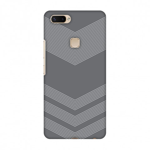 Carbon Fibre Redux Stone Gray 2 Slim Hard Shell Case For Vivo X20 Plus