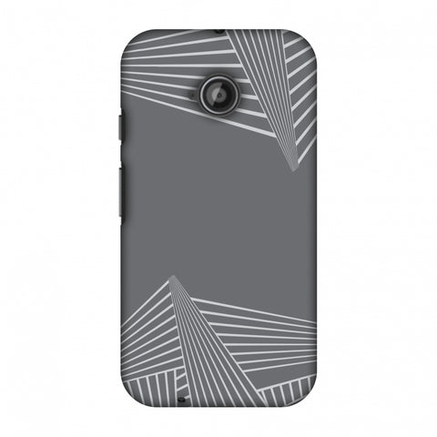 Carbon Fibre Redux Stone Gray 3 Slim Hard Shell Case For Motorola Moto E 2nd Gen