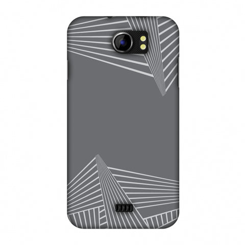 Carbon Fibre Redux Stone Gray 3 Slim Hard Shell Case For Micromax Canvas 2 A110