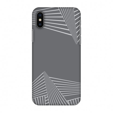 Carbon Fibre Redux Stone Gray 3 Slim Hard Shell Case For Apple iPhone X