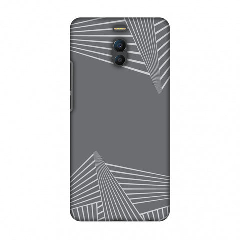 Carbon Fibre Redux Stone Gray 3 Slim Hard Shell Case For Meizu Note 6