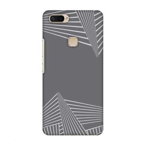 Carbon Fibre Redux Stone Gray 3 Slim Hard Shell Case For Vivo X20 Plus
