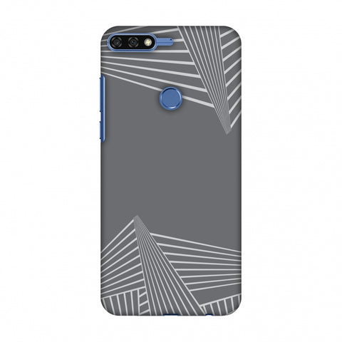 Carbon Fibre Redux Stone Gray 3 Slim Hard Shell Case For Huawei Honor 7C