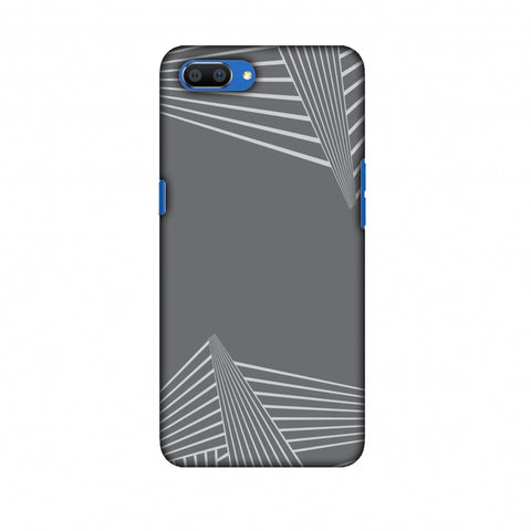 Carbon Fibre Redux Stone Gray 3 Slim Hard Shell Case For Oppo Realme C1