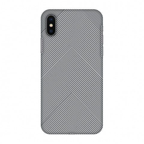 Carbon Fibre Redux Stone Gray 4 Slim Hard Shell Case For Apple iPhone X