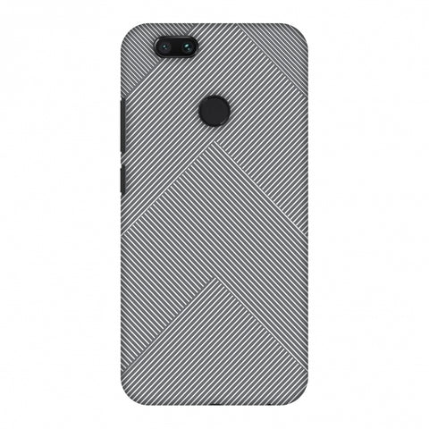 Carbon Fibre Redux Stone Gray 4 Slim Hard Shell Case For Xiaomi MI A1-5X