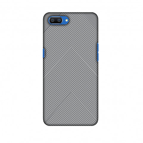 Carbon Fibre Redux Stone Gray 4 Slim Hard Shell Case For Oppo Realme C1