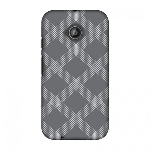 Carbon Fibre Redux Stone Gray 5 Slim Hard Shell Case For Motorola Moto E 2nd Gen