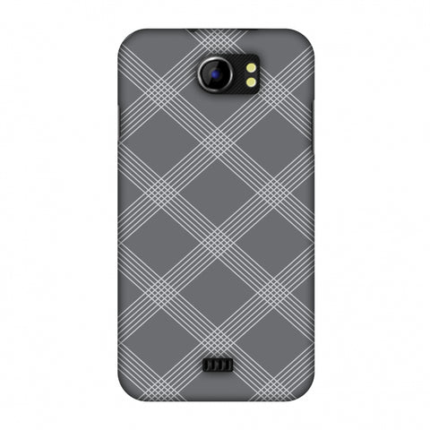 Carbon Fibre Redux Stone Gray 5 Slim Hard Shell Case For Micromax Canvas 2 A110