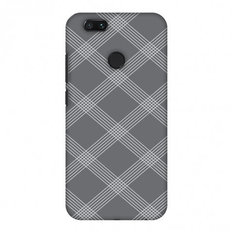 Carbon Fibre Redux Stone Gray 5 Slim Hard Shell Case For Xiaomi MI A1-5X