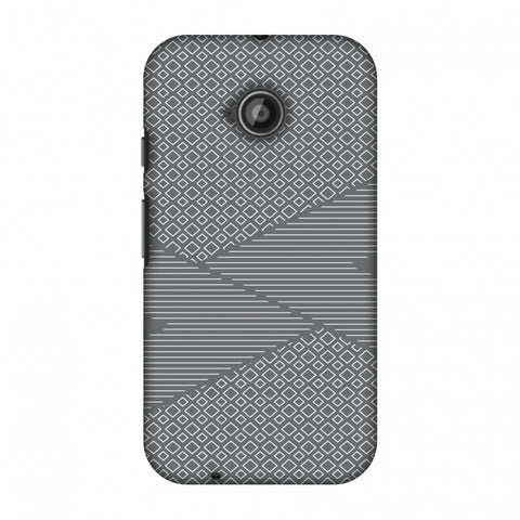 Carbon Fibre Redux Stone Gray 6 Slim Hard Shell Case For Motorola Moto E 2nd Gen